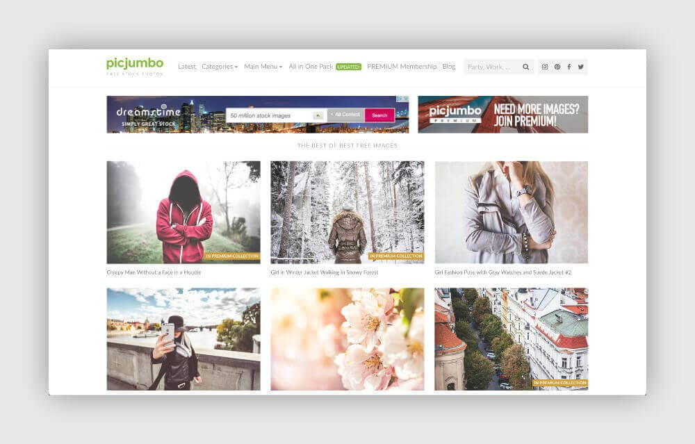 Free photos for your blog from PicJumbo