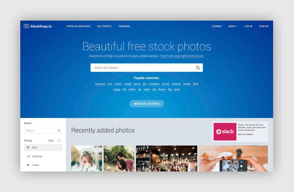 Free photos for your blog from StockSnap.io