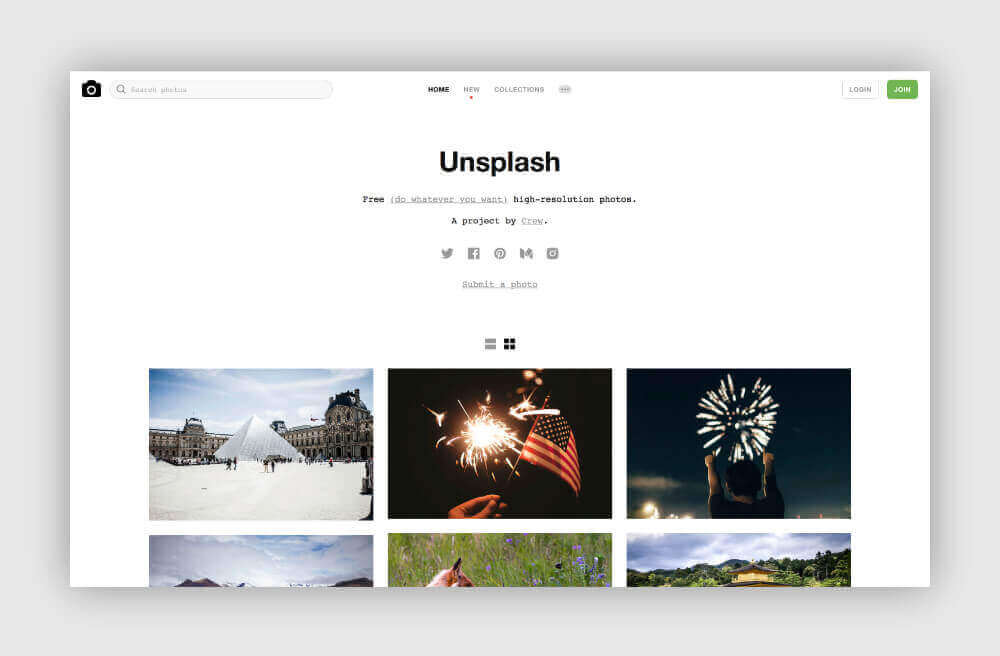 Free photos for your blog from Unsplash