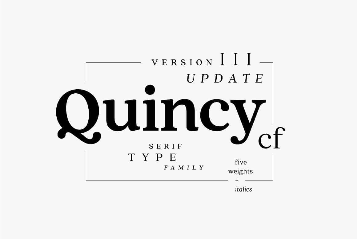 Best Fonts For Logos: Quincy