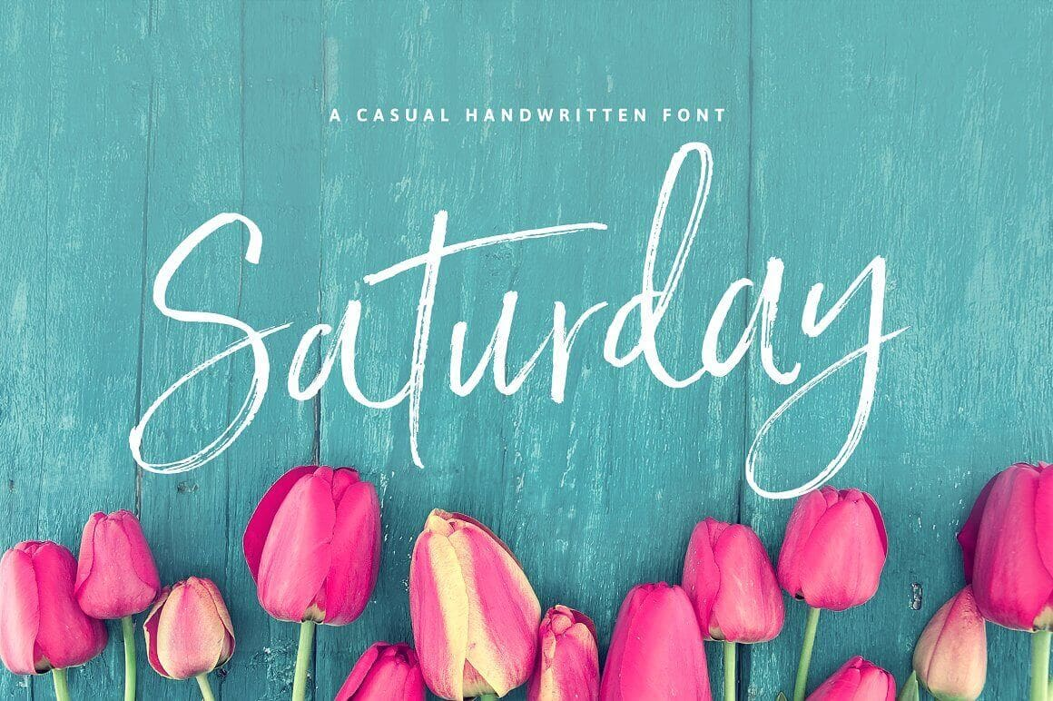 Best Fonts For Logos: Saturday