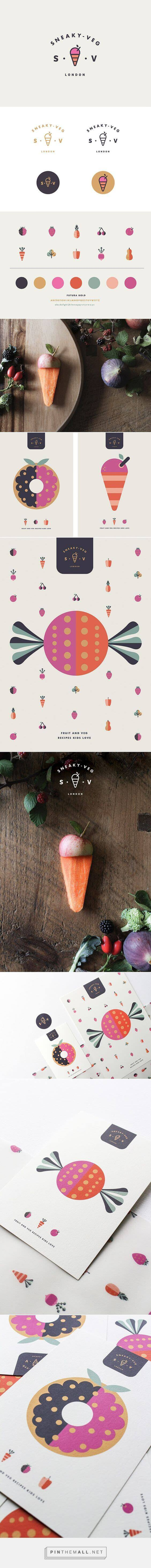 Brand board for Sneaky Veg by Vicki Turner