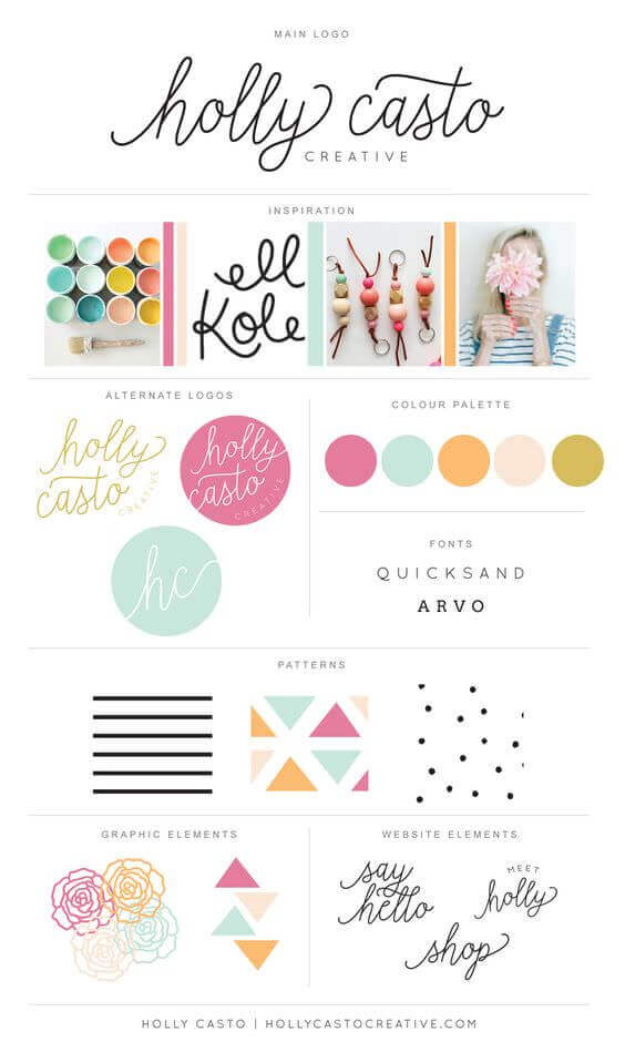 Brand board for Holly Casto by Holly Casto