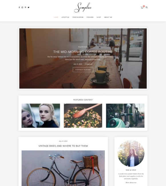 Semplice WordPress Theme Screenshot